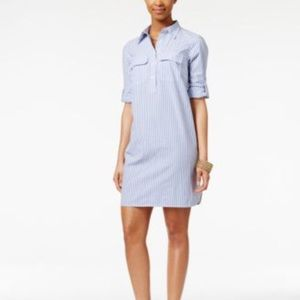 American Living size Large blue/white shirtdress